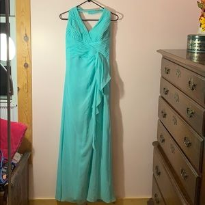 Formal turquoise dress